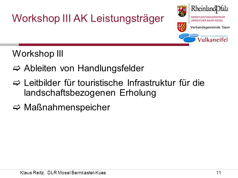 Workshop III AK Leistungsträger