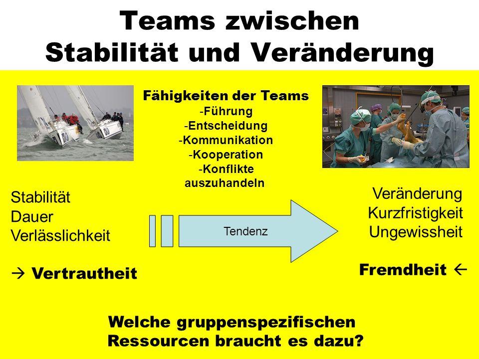 Teams zwischen Stabilität und Veränderung