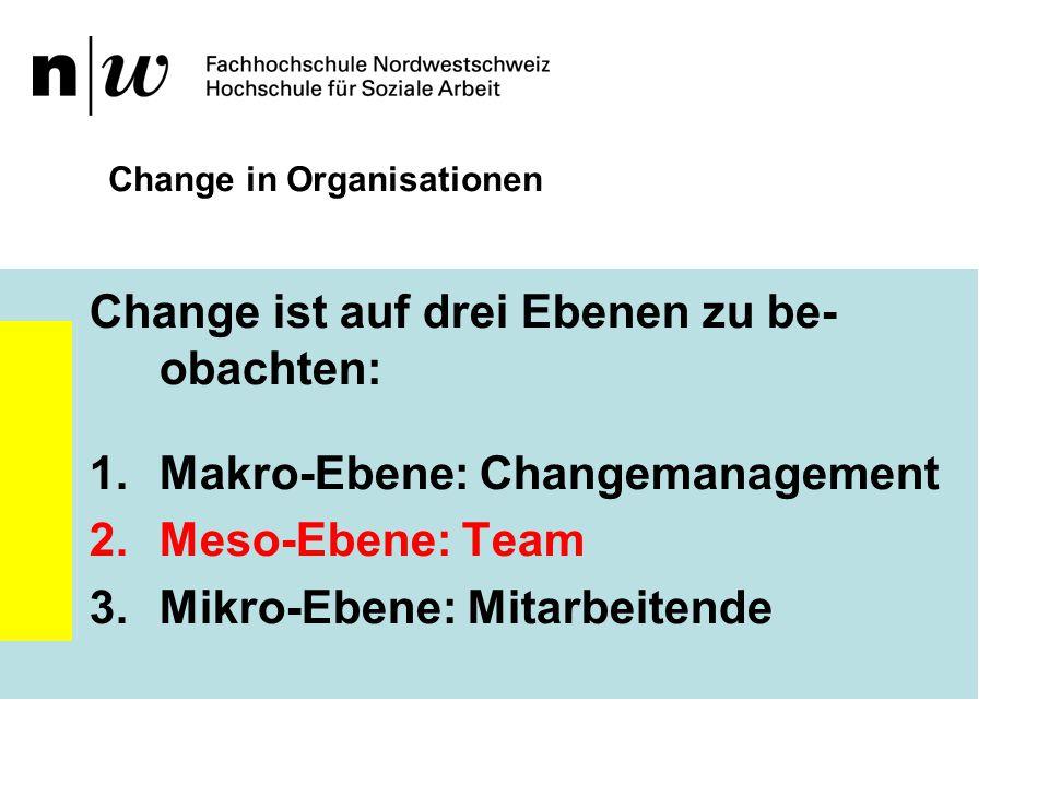 Change in Organisationen