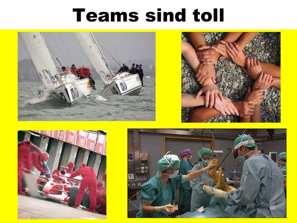 Teams sind toll Hohe Attraktivität des Teambegiffs