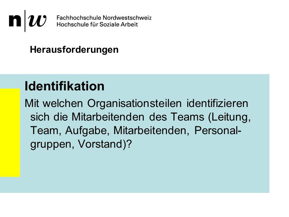 Herausforderungen Identifikation.