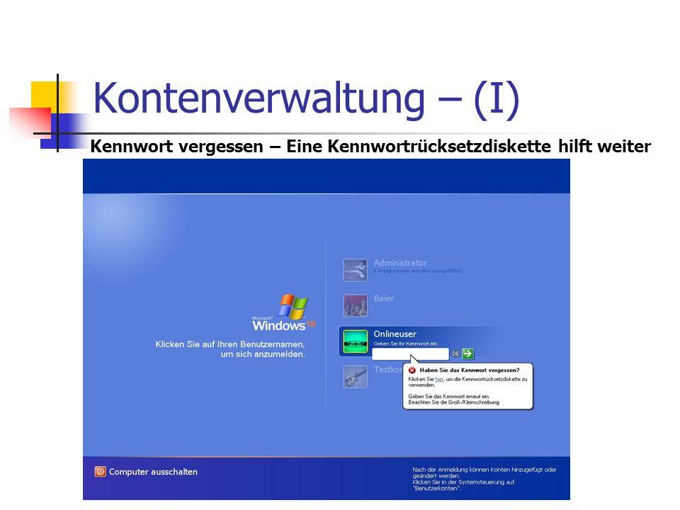 Kontenverwaltung – (I)