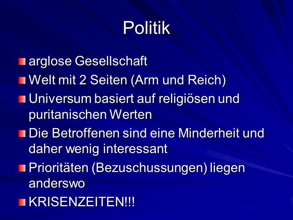 Politik arglose Gesellschaft Welt mit 2 Seiten (Arm und Reich)