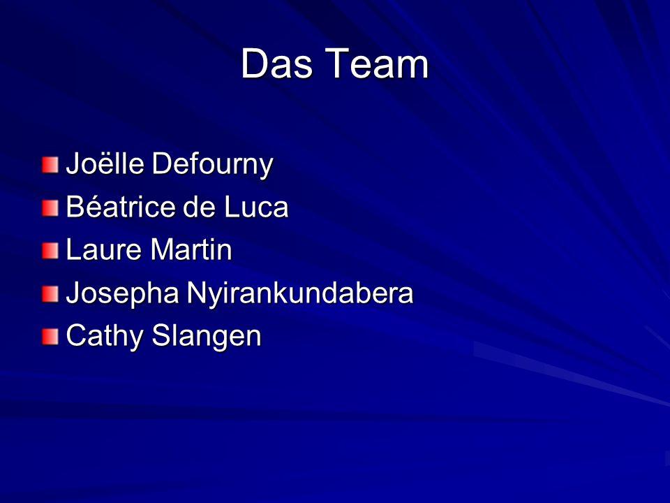 Das Team Joëlle Defourny Béatrice de Luca Laure Martin