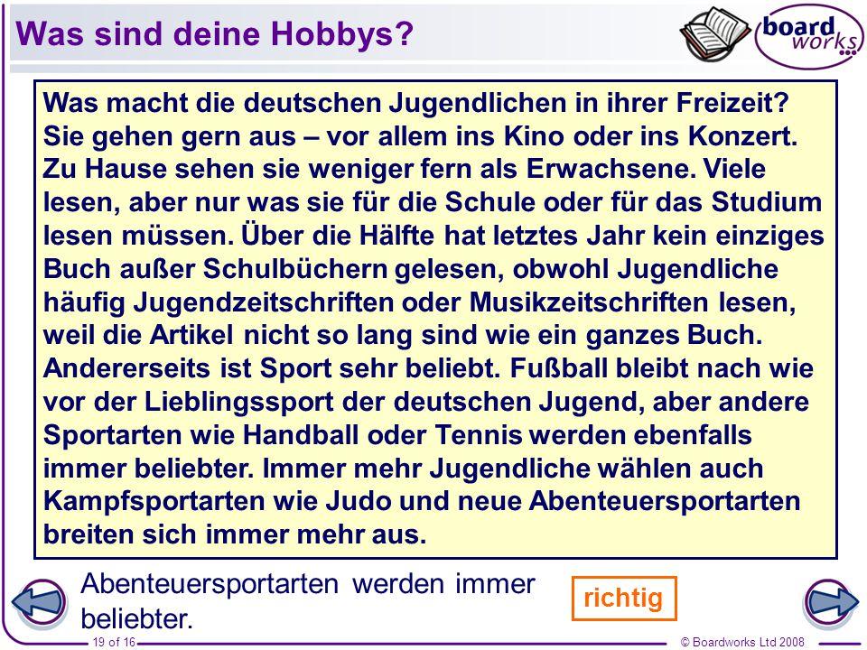Was sind deine Hobbys Deutsche Jugendliche gehen gern ins Kino.
