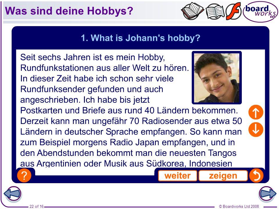 Was sind deine Hobbys