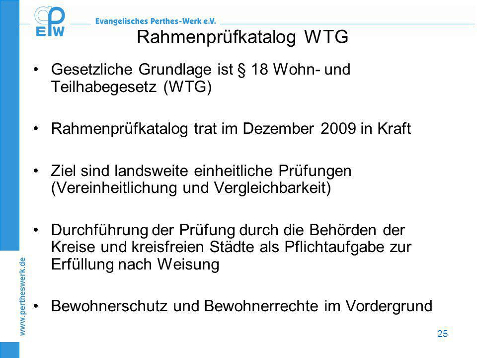 Rahmenprüfkatalog WTG