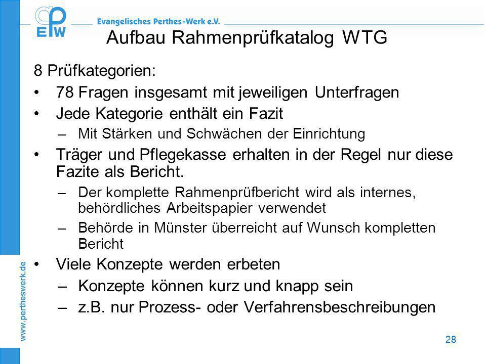 Aufbau Rahmenprüfkatalog WTG