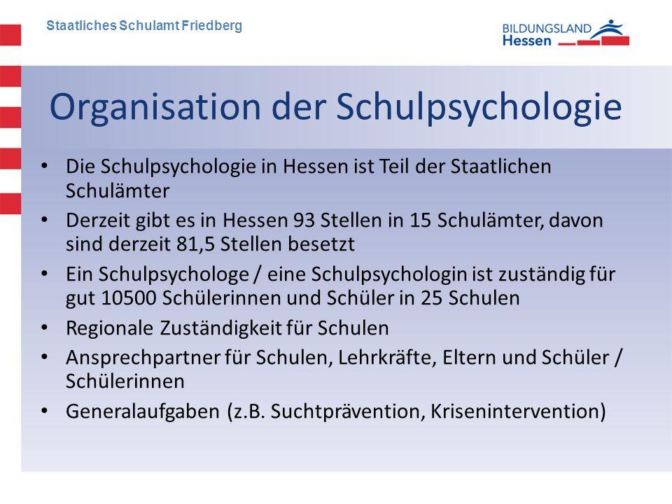 Organisation der Schulpsychologie