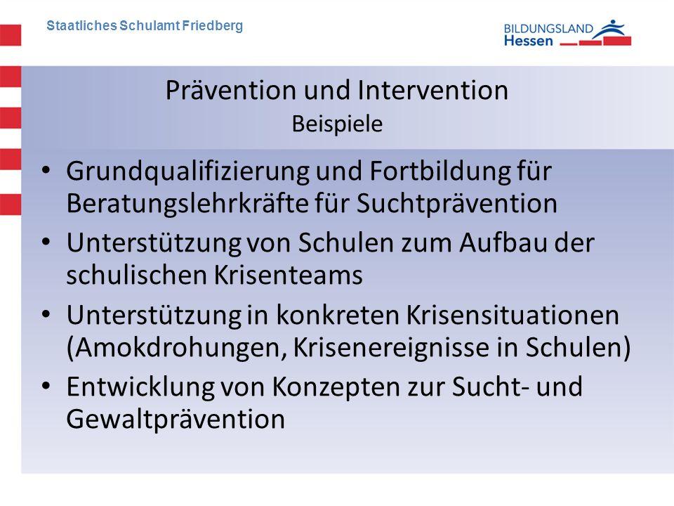 Prävention und Intervention Beispiele