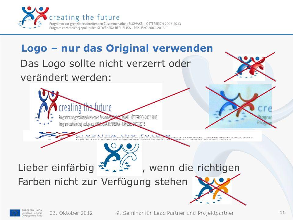 Logo – nur das Original verwenden