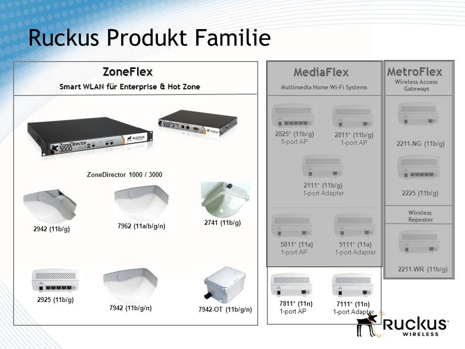 Ruckus Produkt Familie