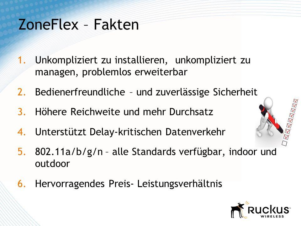 ZoneFlex – Fakten Unkompliziert zu installieren, unkompliziert zu managen, problemlos erweiterbar.