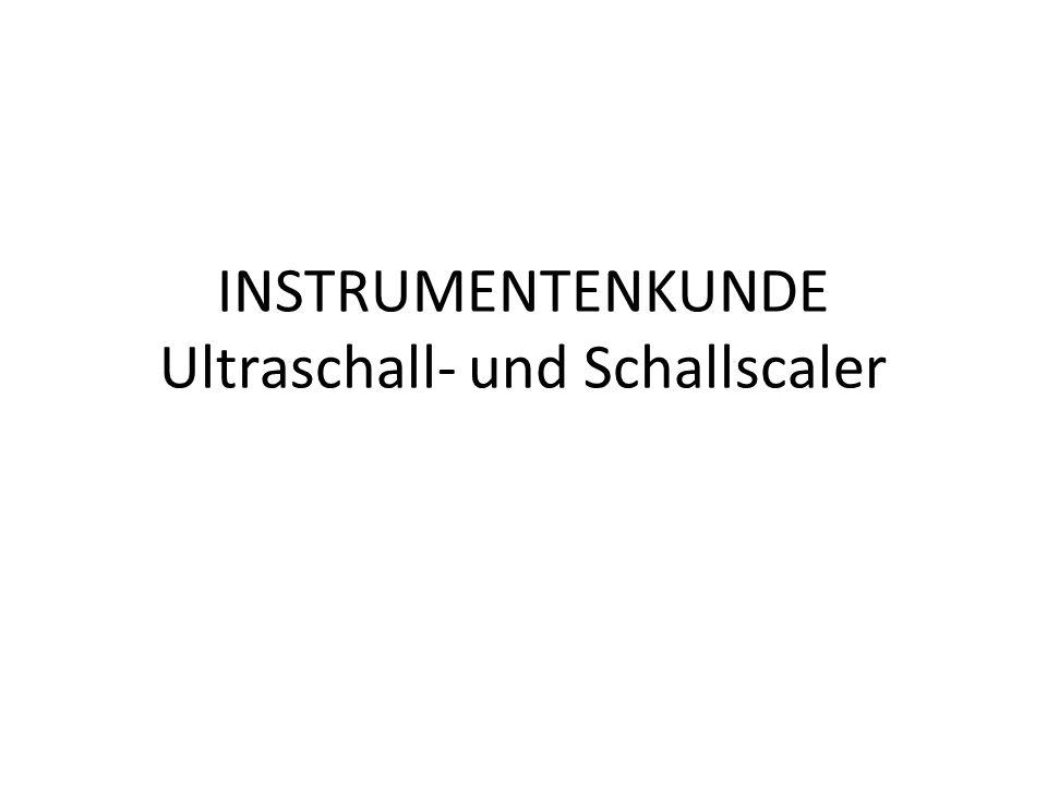 INSTRUMENTENKUNDE Ultraschall- und Schallscaler