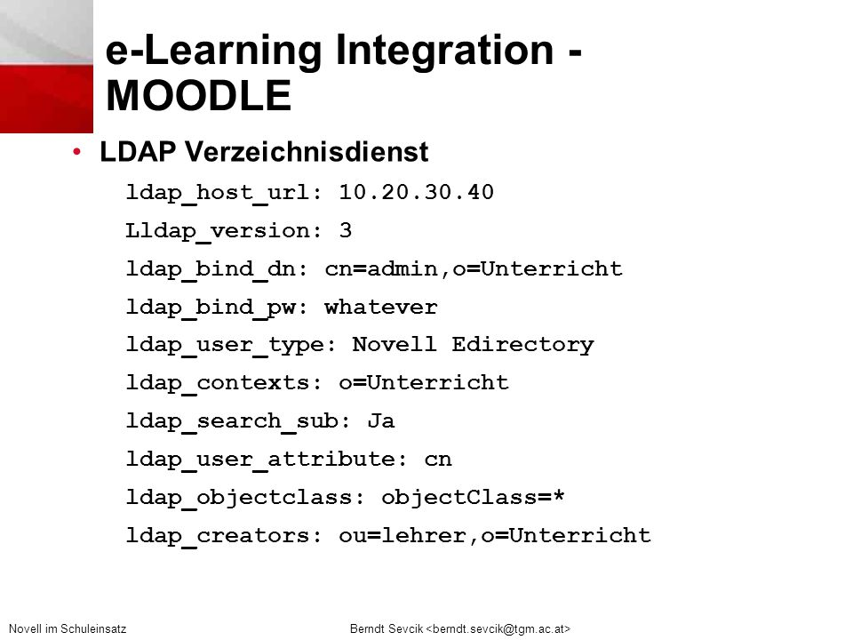 e-Learning Integration - MOODLE