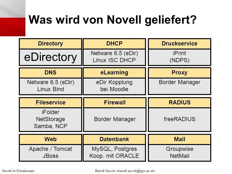 Was wird von Novell geliefert