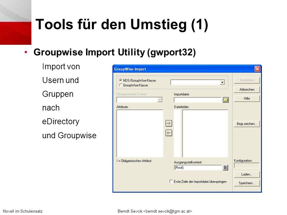 Tools für den Umstieg (1)