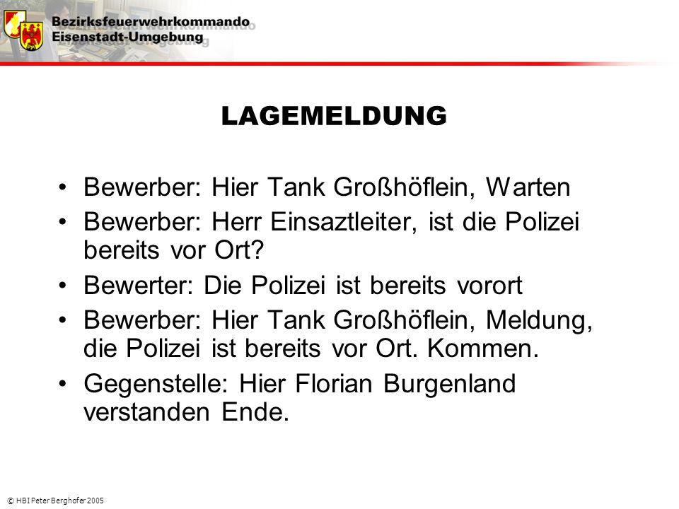 Bewerber: Hier Tank Großhöflein, Warten