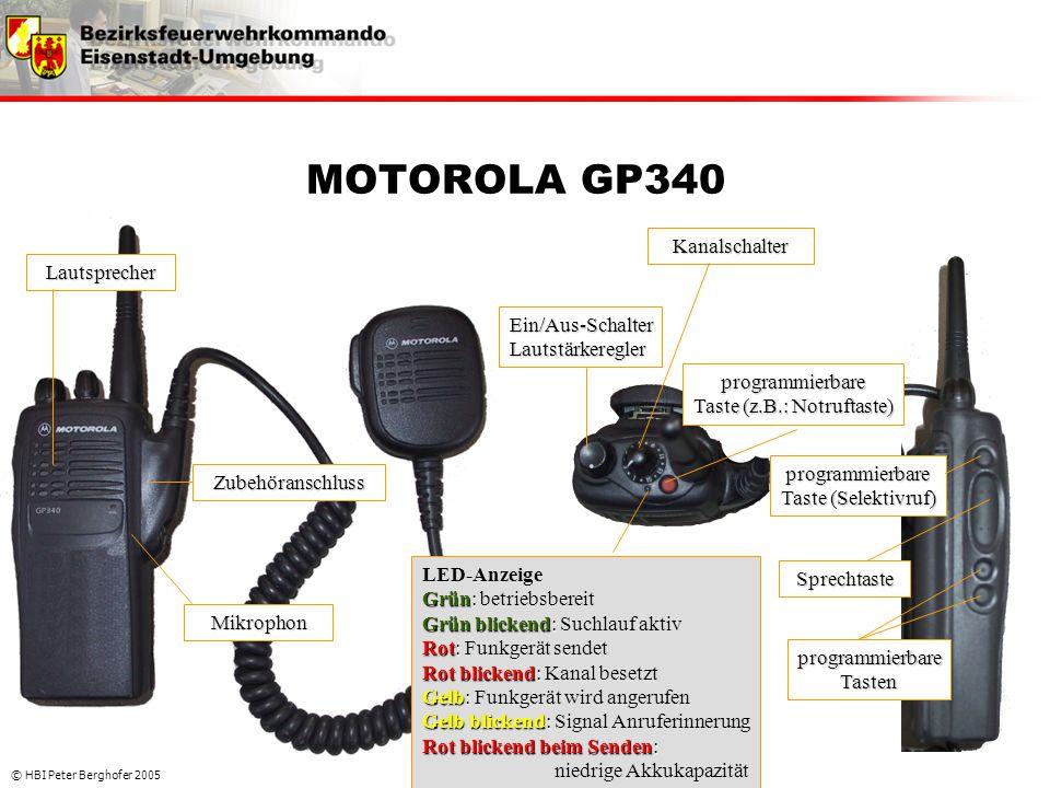 MOTOROLA GP340 Kanalschalter Lautsprecher Ein/Aus-Schalter