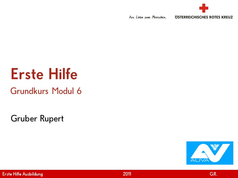 Erste Hilfe Grundkurs Modul 6 Gruber Rupert