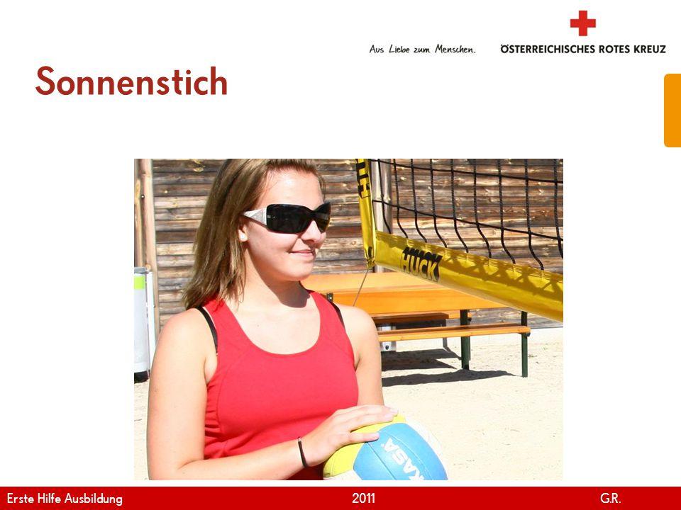 Sonnenstich Erste Hilfe Ausbildung 2011 G.R.