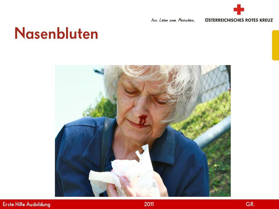 Nasenbluten Erste Hilfe Ausbildung 2011 G.R.