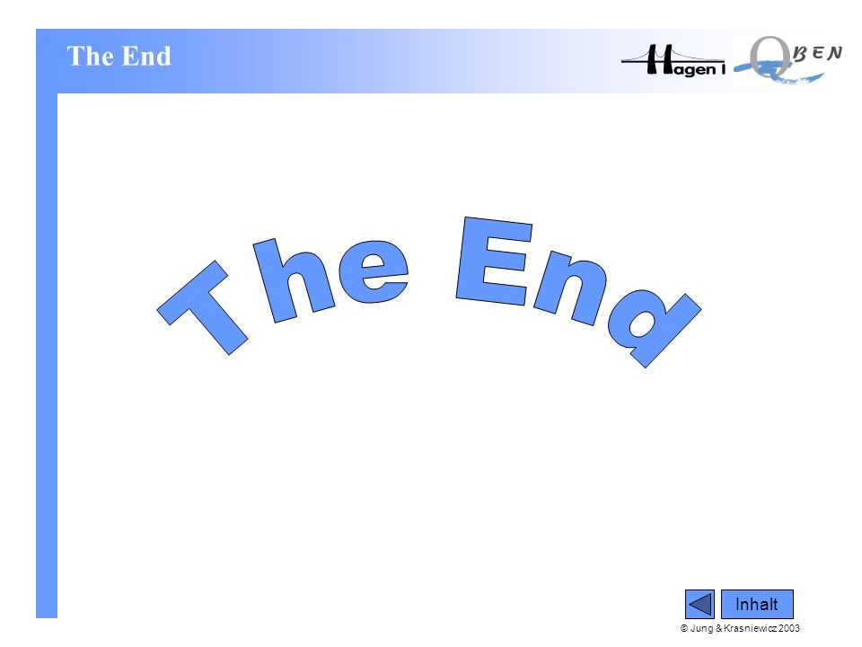 The End The End Inhalt