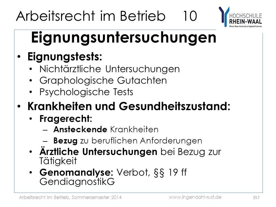 Arbeitsrecht im Betrieb 10