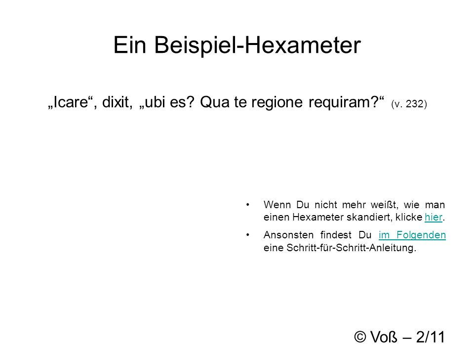 Ein Beispiel-Hexameter