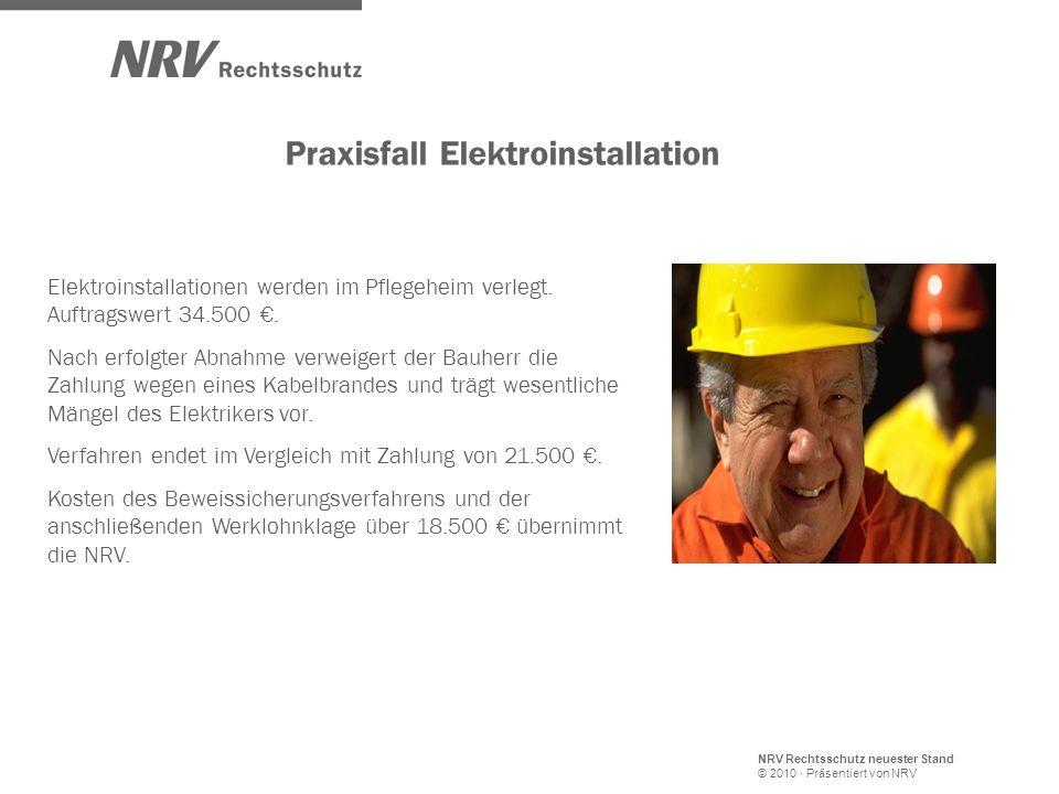 Praxisfall Elektroinstallation