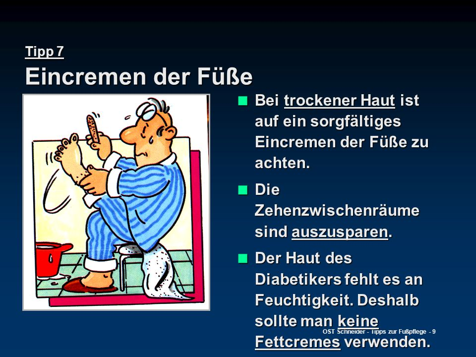 leben mit diabetes tipps zur fu pflege ppt video online herunterladen. Black Bedroom Furniture Sets. Home Design Ideas