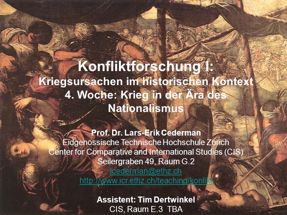 Konfliktforschung I: Kriegsursachen im historischen Kontext
