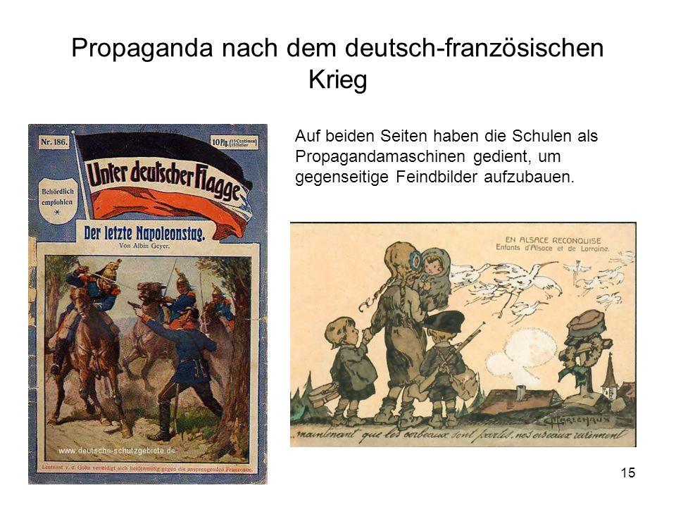 Propaganda nach dem deutsch-französischen Krieg