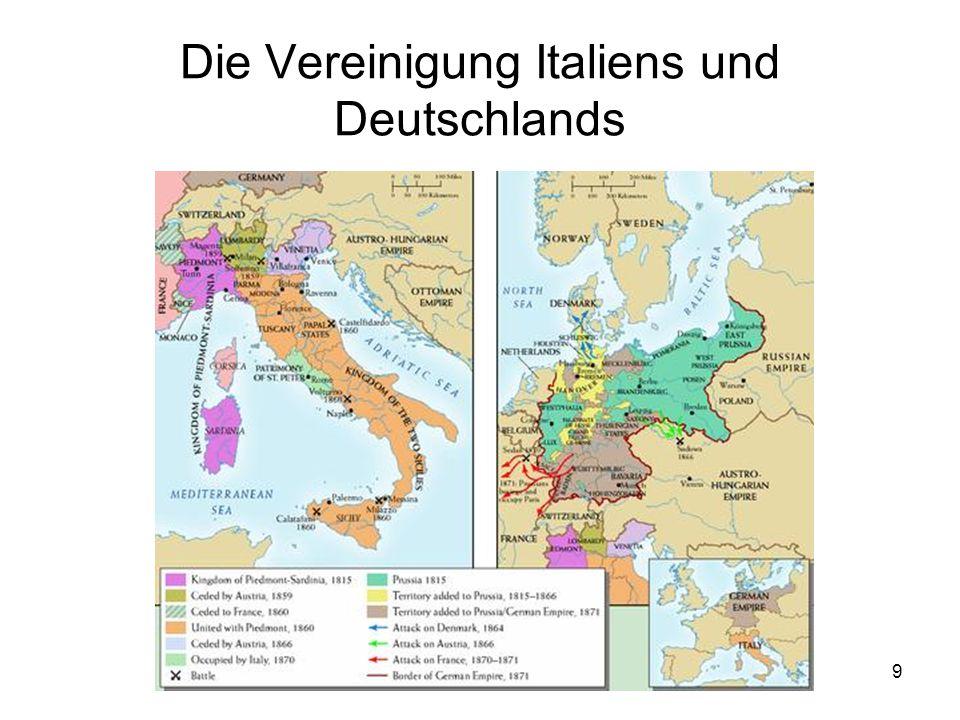 Die Vereinigung Italiens und Deutschlands