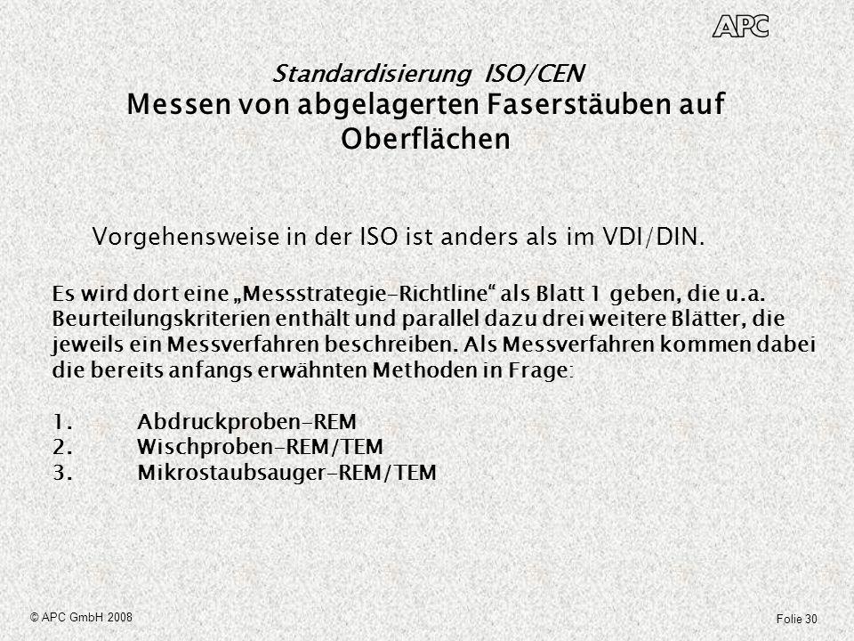 Vorgehensweise in der ISO ist anders als im VDI/DIN.