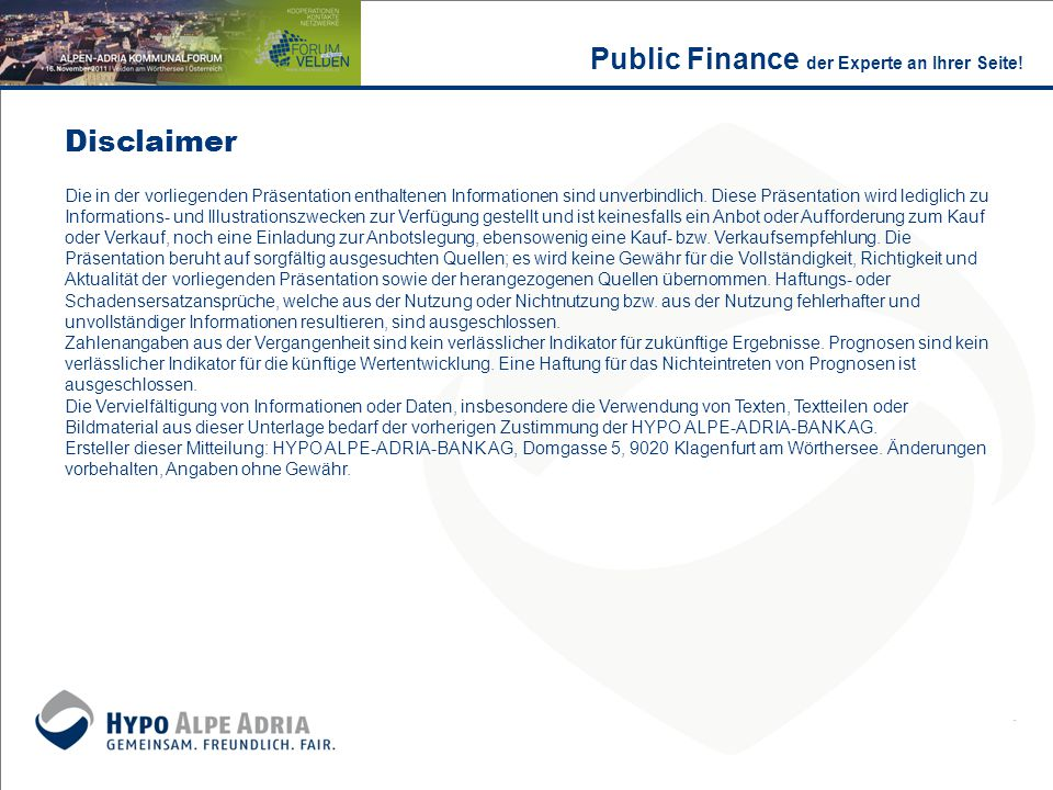 Public Finance der Experte an Ihrer Seite!