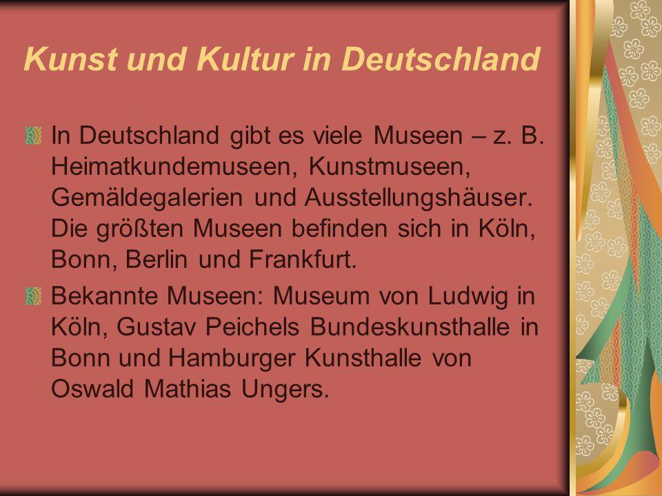 Kunst und Kultur in Deutschland