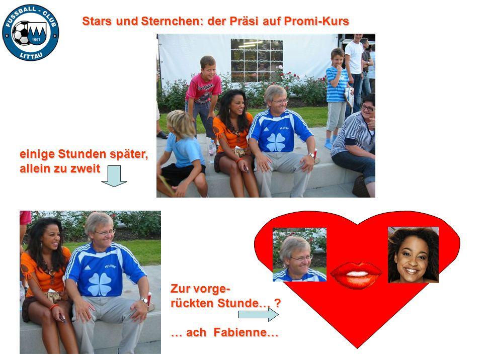 Stars und Sternchen: der Präsi auf Promi-Kurs