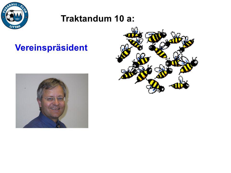 Traktandum 10 a: Vereinspräsident