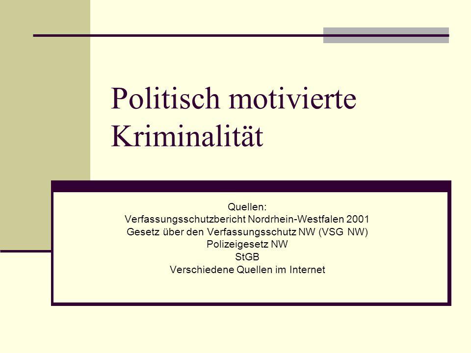 Politisch motivierte Kriminalität