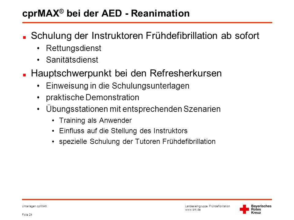 cprMAX® bei der AED - Reanimation