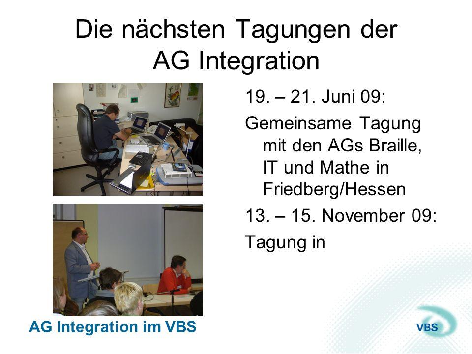 Die nächsten Tagungen der AG Integration