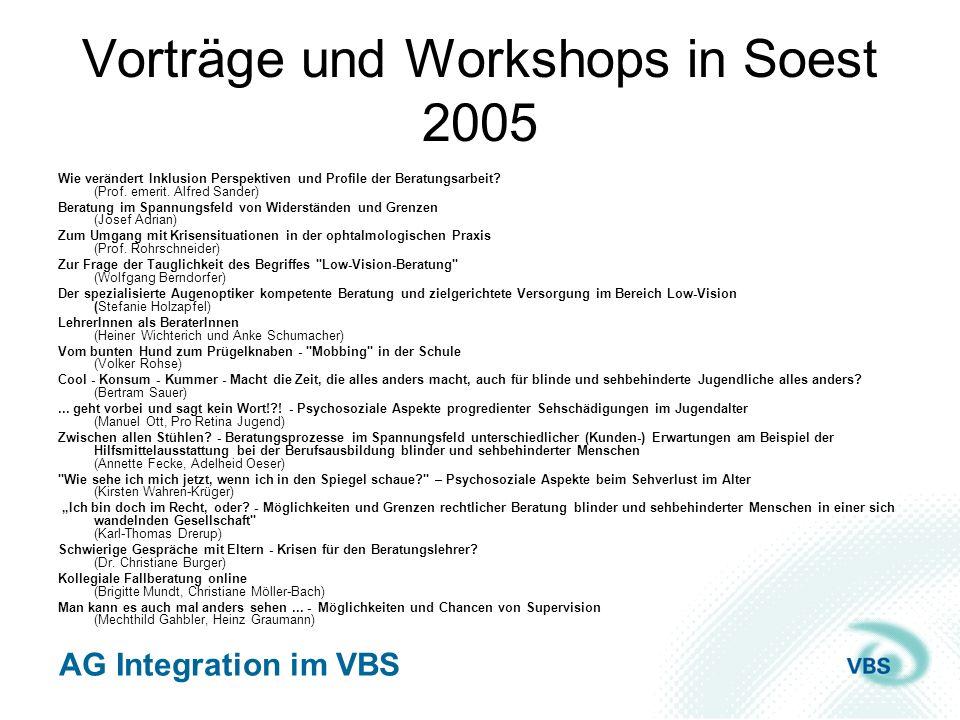 Vorträge und Workshops in Soest 2005