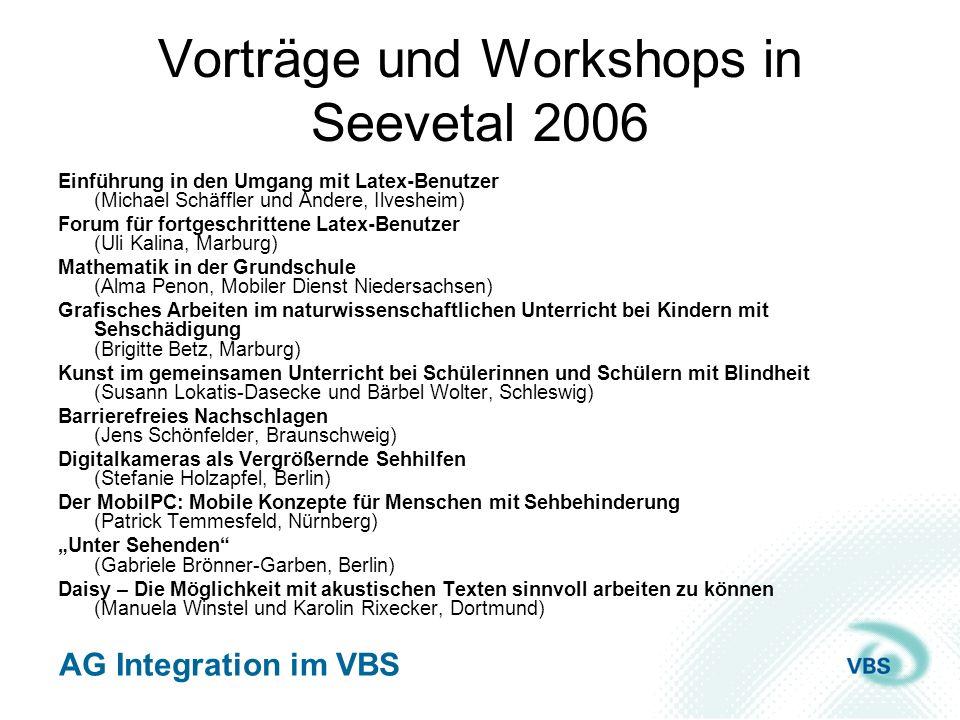 Vorträge und Workshops in Seevetal 2006
