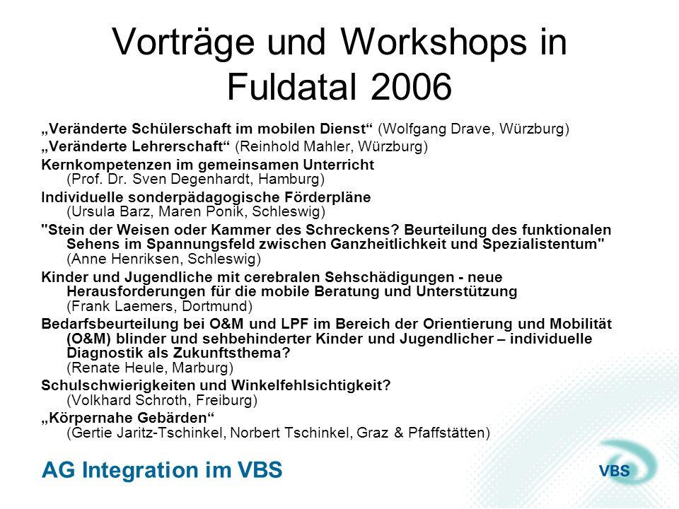 Vorträge und Workshops in Fuldatal 2006