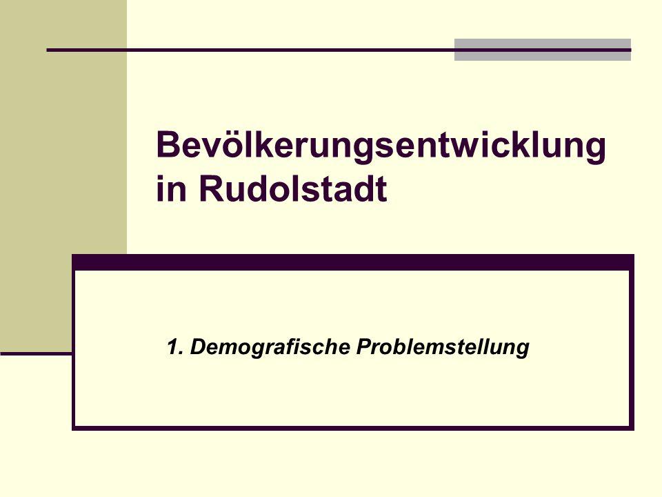 Bevölkerungsentwicklung in Rudolstadt
