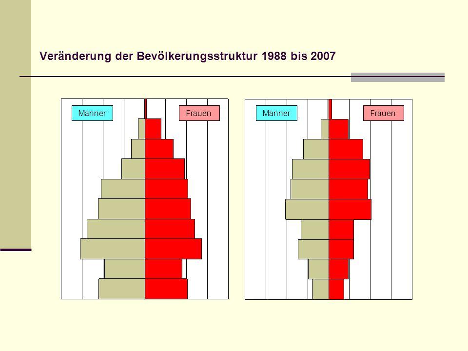 Veränderung der Bevölkerungsstruktur 1988 bis 2007