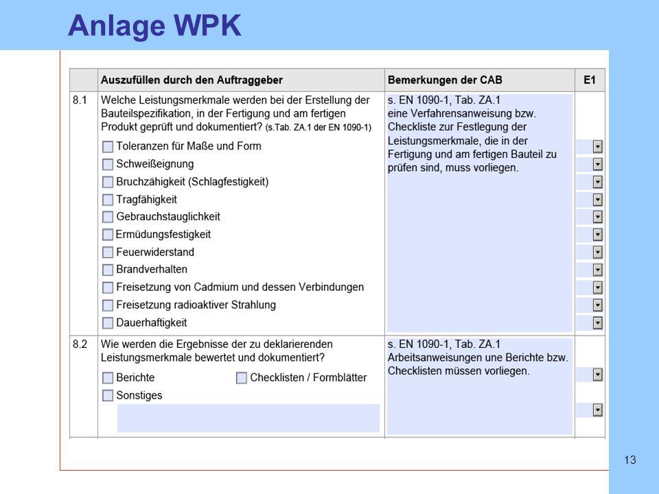 Anlage WPK