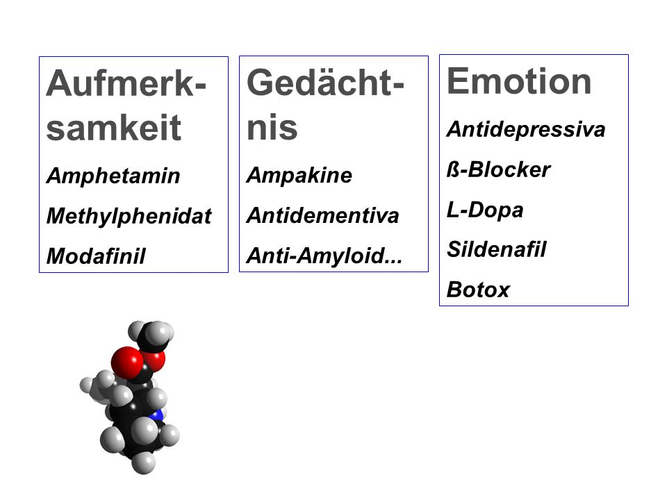 Aufmerk-samkeit Gedächt-nis Emotion Antidepressiva ß-Blocker