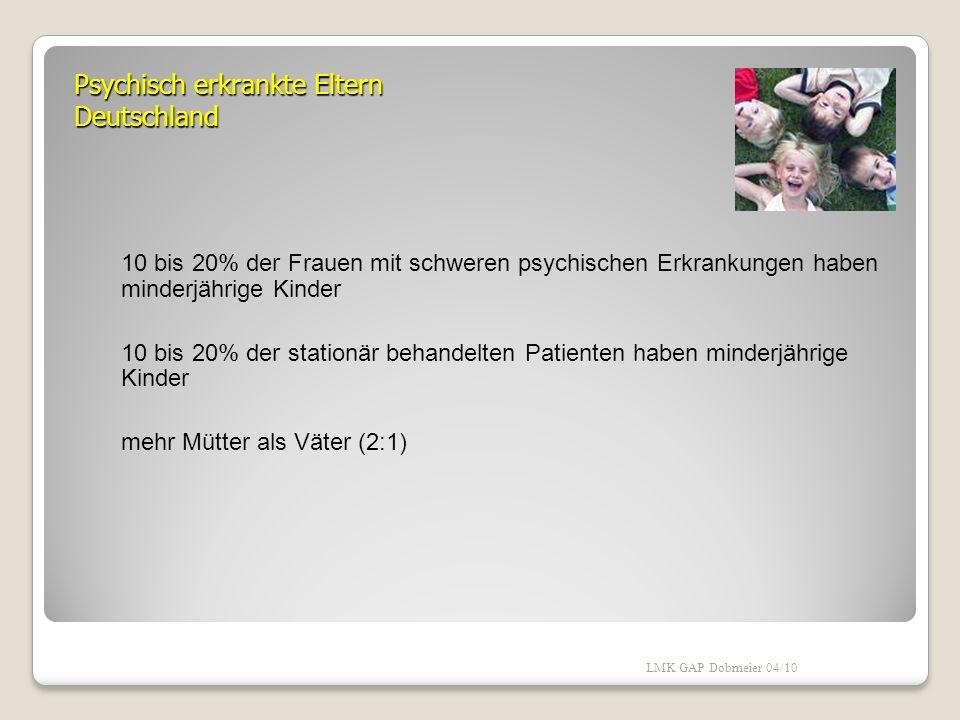 Psychisch erkrankte Eltern Deutschland